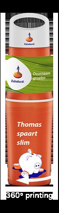 BE O bottle oranje bedrukte waterfles relatiegeschenk voor Rabobank