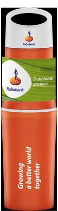 BE-O-bottle-oranje-waterfles-bedrukt-relatiegeschenk-Rabobank