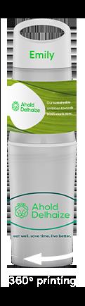 BE-O-bottle-wit-bedrukte-waterfles-relatiegschenk-voor-Ahold-Delhaize-langerelevertijd